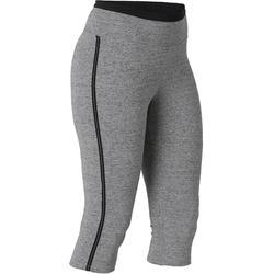 Kuitbroek voor pilates en lichte gym dames 510 slim fit grijs