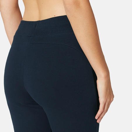Pantalon 510 étroit Pilates gym douce femme bleu marine