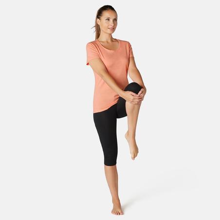 Stretchy Cotton Fitness T-Shirt - Orange