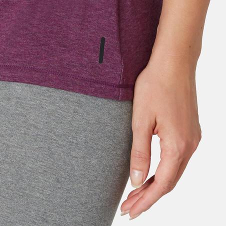 T-shirt de pilates régulier500– Femmes
