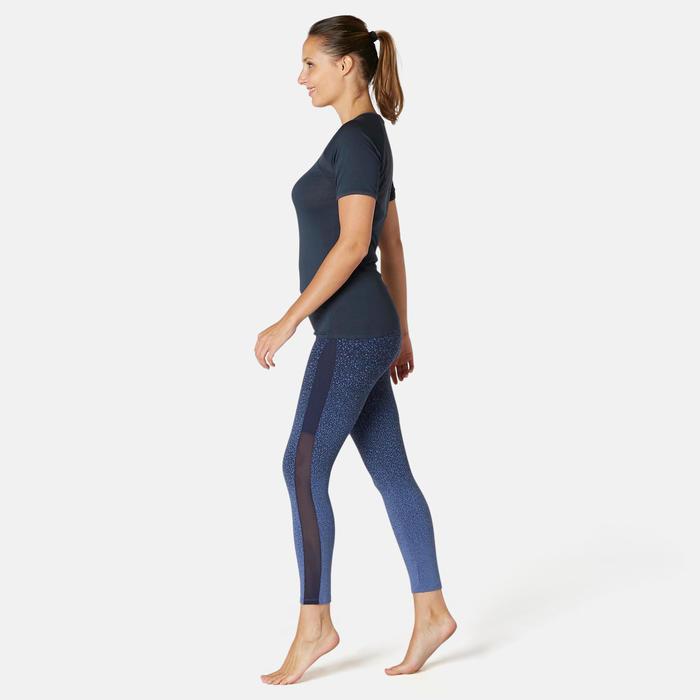T-shirt Sport Pilates Gym Douce Femme 530 Bleu Marine