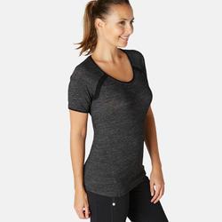 T-shirt Sport Pilates Gym Douce Femme 530 Gris Printé