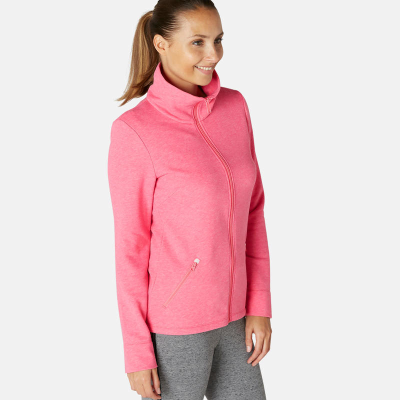 Women's Training Jacket 500 - Mottled Pink