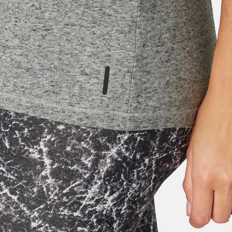 T-shirt de pilates régulier500 – Femmes