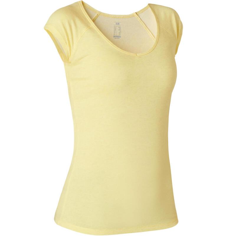 Koszulka krótki rękaw slim Gym & Pilates 500 damska