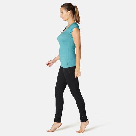 500 Slim-Fit Gentle Gym and Pilates T-Shirt - Women