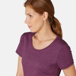 500 Regular-Fit Pilates and Gentle Gym Sports T-Shirt - Women