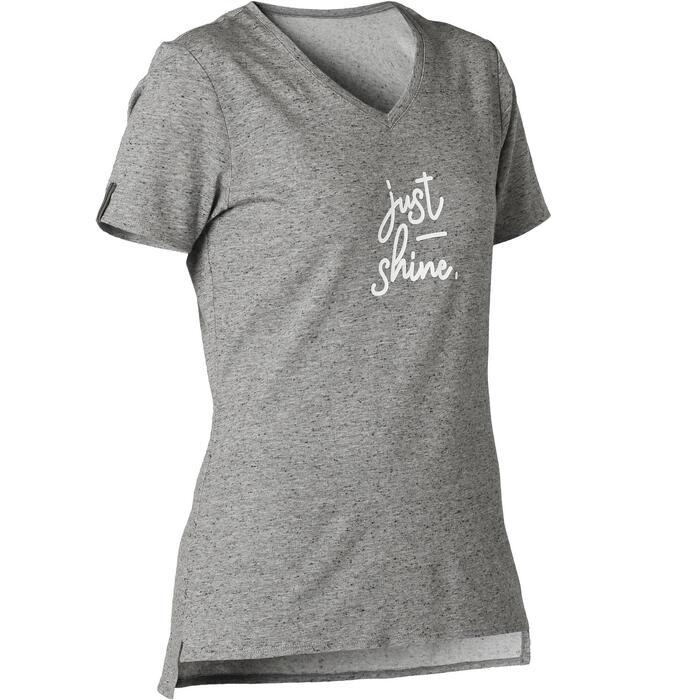 T-shirt Sport Pilates Gym Douce Femme 510 Gris Imprimé