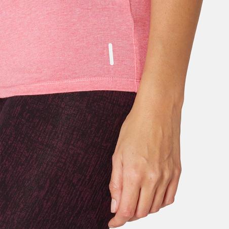 T-shirt de pilates ajusté500– Femmes
