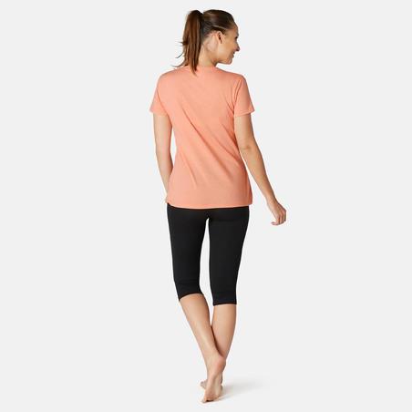 T-Shirt Coton Extensible Fitness Orange