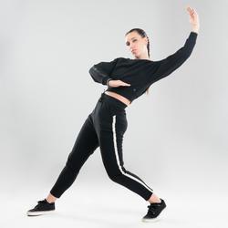 Sudadera crop danzas urbanas negro mujer
