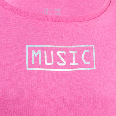 Girls' Draping Modern Dance T-Shirt - Pink