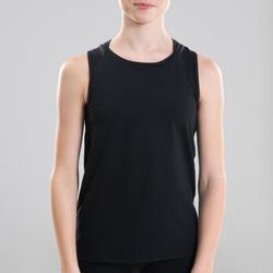 Topje voor moderne dans meisjes zwart opening op de rug