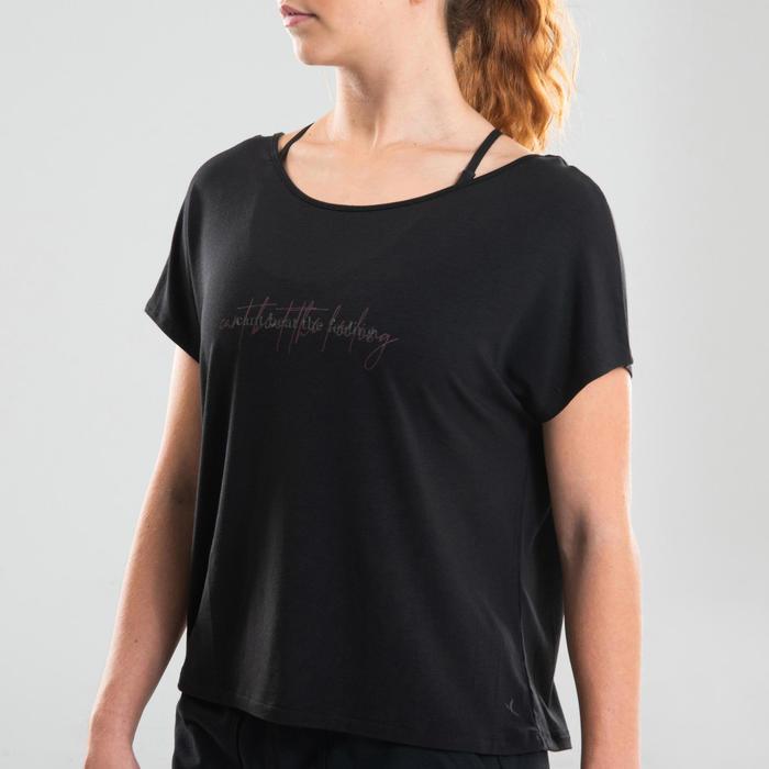 T-shirt danse moderne noir fluide femme