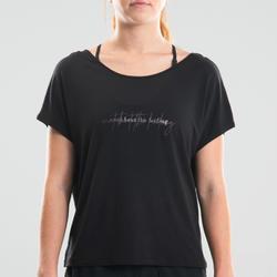 Soepel T-shirt moderne dans dames zwart