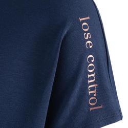 Soepel T-shirt voor moderne dans dames marineblauw