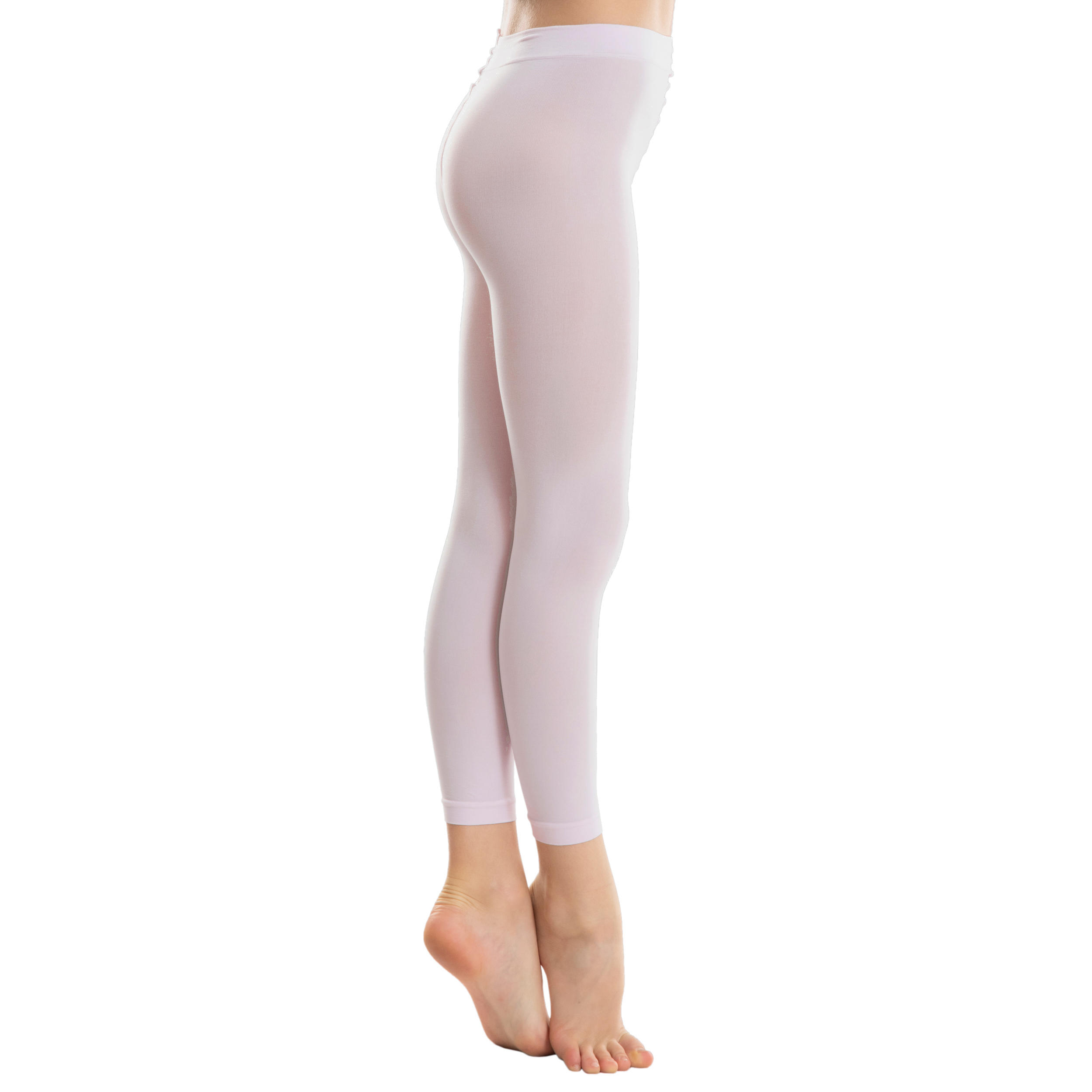 BRAND NEW QUALITY GIRLS WOMENS BLACK COTTON LYCRA FOOTLESS DANCE TIGHTS