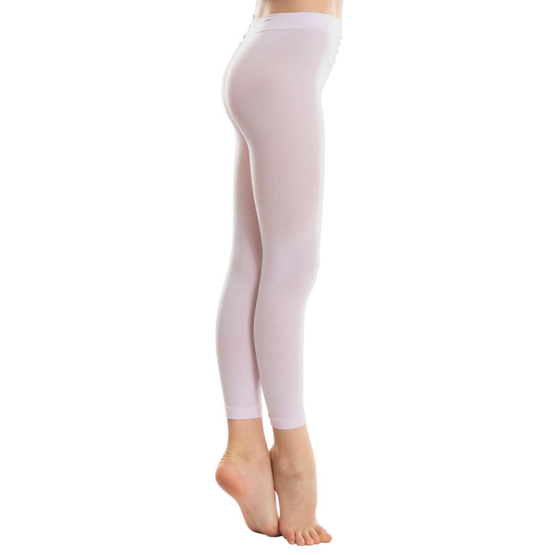 BALLET DANCE TIGHTS, ACCESSORIES Ballet - Girls' Footless Tights DOMYOS - Ballet
