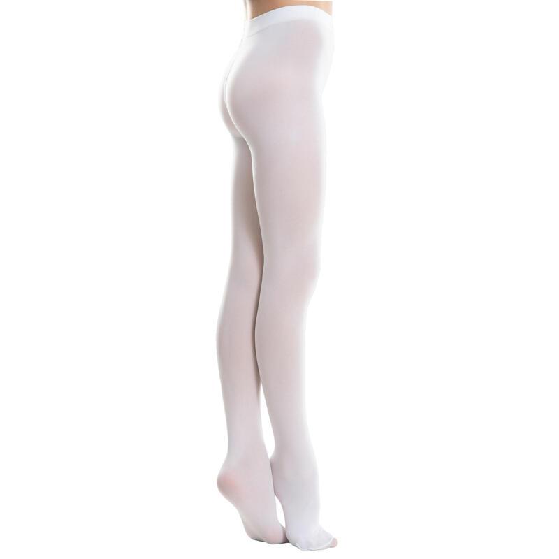 Dívčí baletní punčochy bílé