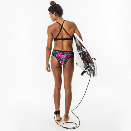 Women's double flat adjustable swimsuit crop top ELISE FOAMY