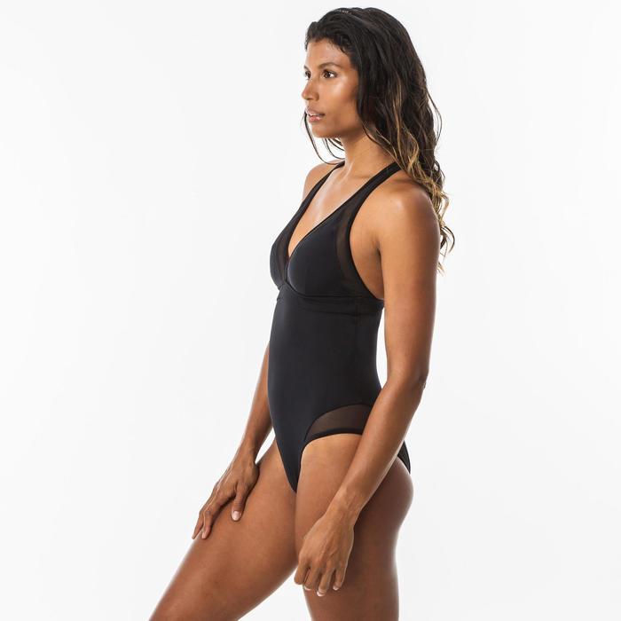 Bañador Surf Isa Mujer Negro Espalda Cruzada