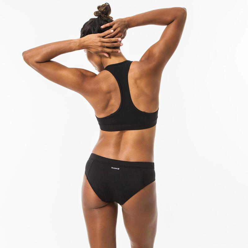 Braguita Bikini Culotte Surf Mujer Olaian Vali Negro