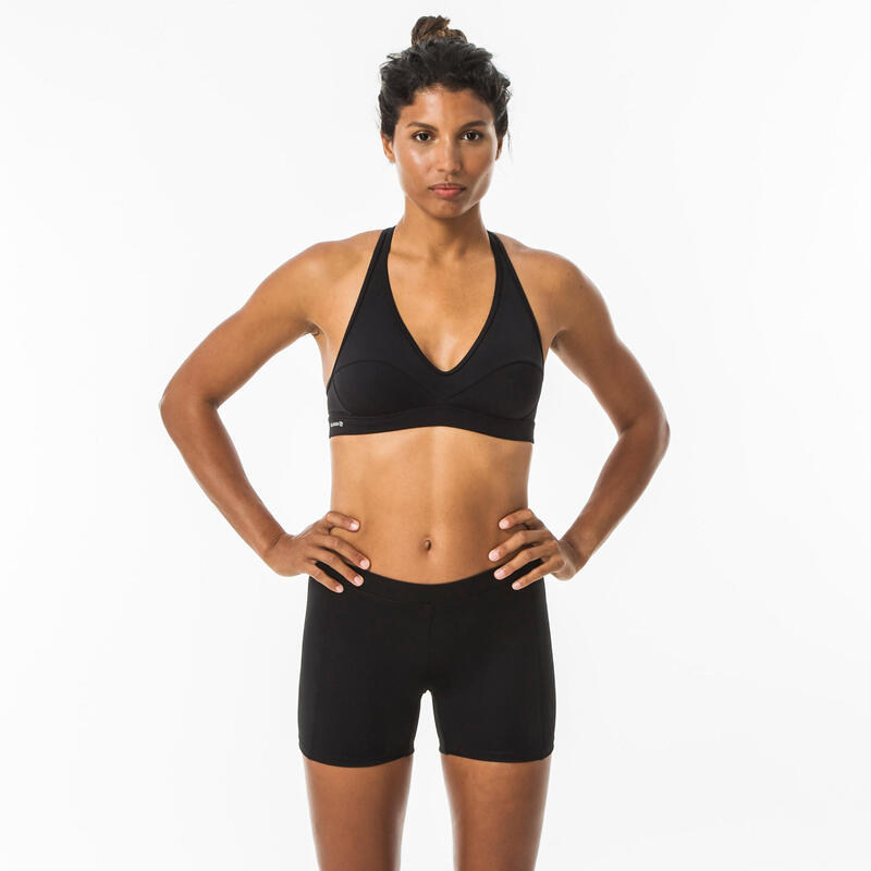 Braguita Bikini Short Pantalón Surf Mujer Olaian Reva Negro