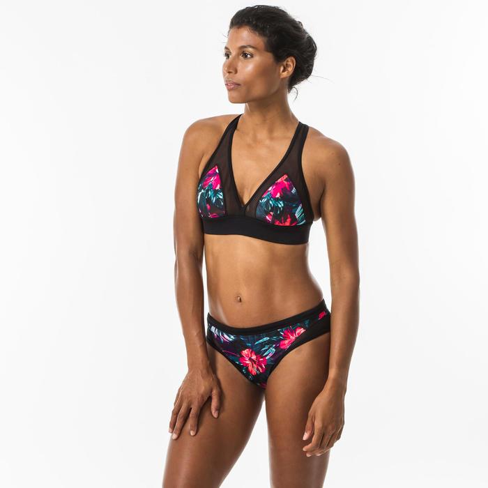 Bikinibroekje voor surfen Savana Foamy opengewerkte details en aantrekkoordje