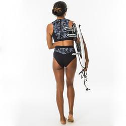 女款衝浪短版上衣(背部拉鍊設計)