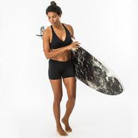Ana Women's Surfing Crop Top Swimsuit Top Black