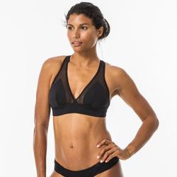 Halter top bikini dames Isa zwart verstelbaar rugbandje