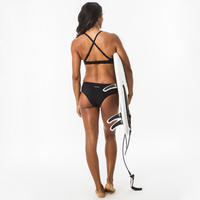 Women's surfing swimsuit bottoms with drawstring SAVANA BLACK