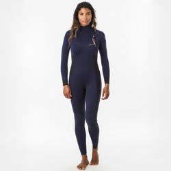 FATO DE SURF DE NEOPRENO 3/2 MM 900 MULHER AZUL MARINHO