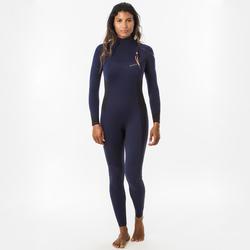 Wetsuit dames 900 neopreen 3/2 mm marineblauw