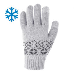 SH100 Warm Child's Hiking Knit Gloves-Grey