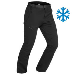 Men's Snow Hiking Pants (X-Warm) SH500 Stretch - Black