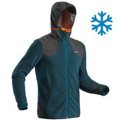 Men's snow hiking fleece SH500 (X-Warm) - blue grey