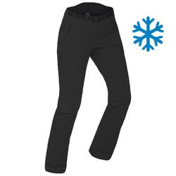 Women's Snow Hiking Pants (X-Warm) SH500 Stretch - Black