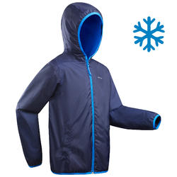 Boy's 8-14 years snow hiking jacket SH50 WARM - blue