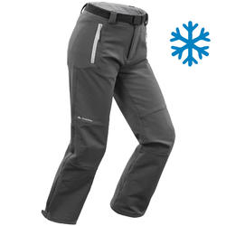 Boys' warm hiking trousers SH500 X-Warm - Age 7 to 15 - Grey
