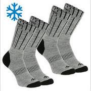 Adult Warm Hiking Socks - SH100 X-WARM MID - 2 Pairs