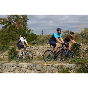 VELO ROUTE HOMME CYCLOTOURISME RC120 GRIS ABYSS