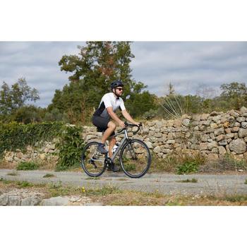 BICICLETA CARRETERA HOMBRE CICLOTURISMO RC100 GRIS