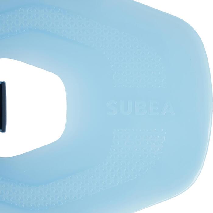 Verstelbare snorkelvinnen voor volwassenen SNK 100 turqoise