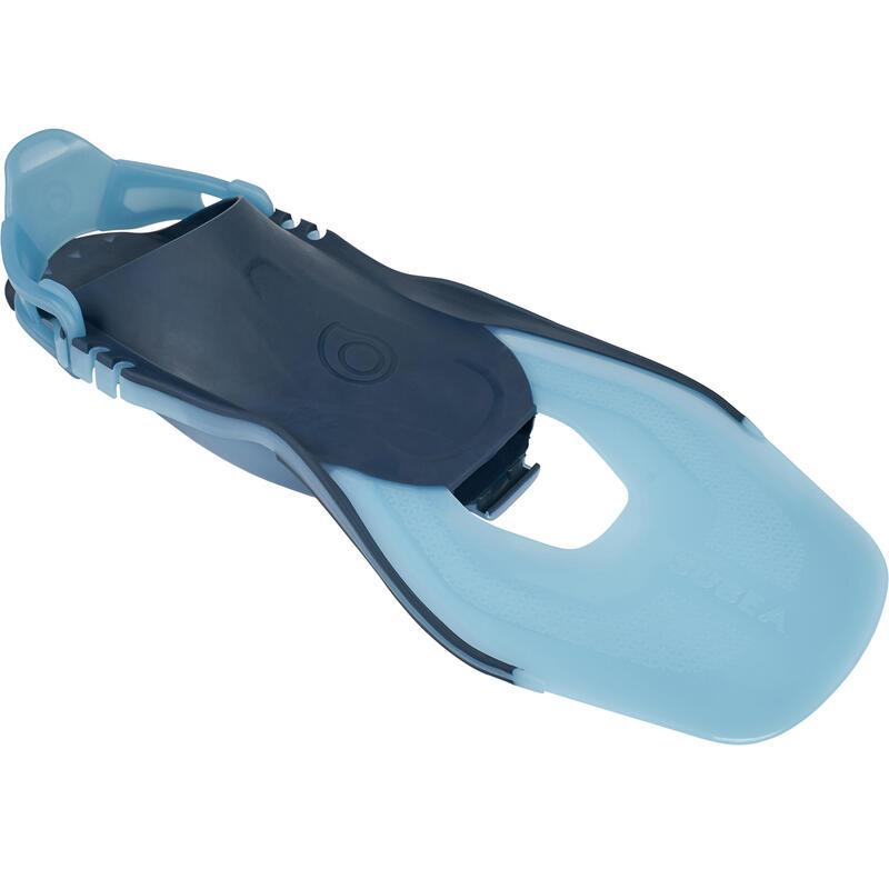 Palmes de snorkeling réglables adulte SNK 100 Turquoise