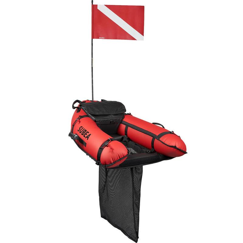 Planche gonflable de chasse sous-marine avec filet amovible SPF 540