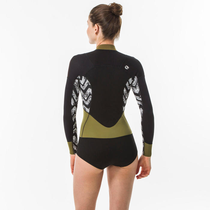 Women's long-sleeved Surf Shorty with front zip
