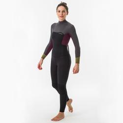 Fato de surf 500 fechos nas costas 4/3 500 Mulher