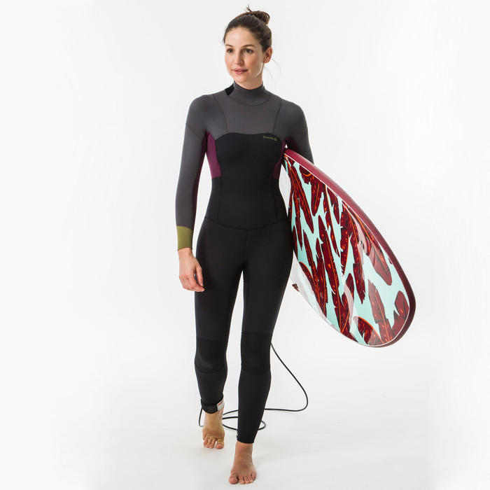 Wetsuit dames 4/3 500 back zip