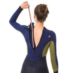 Wetsuit dames 3/2 500 ritssluiting op de rug